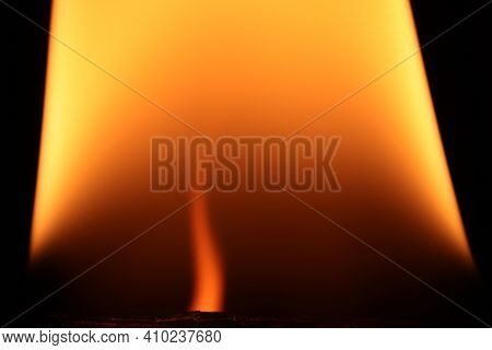 Burning Flames Background. Blaze Fire Texture. Glowing Dangerous Burl Light Backdrop. Danger Blazing
