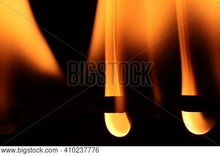 Glowing Dangerous Burl Light Backdrop. Danger Blazing Flame. Burning Flames Background. Blaze Fire T