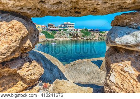 View Over The Town Of Isola Di Capo Rizzuto On The Ionian Sea, Calabria, Italy