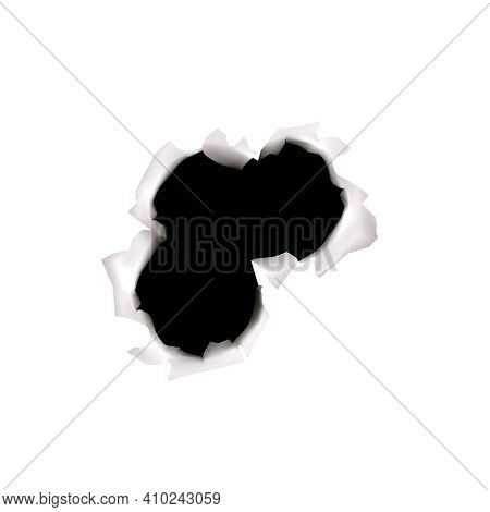 Bullet Holes Realistic Set Of Isolated Bullet Plug Icons And Broken Glass Spot On Transparent Backgr