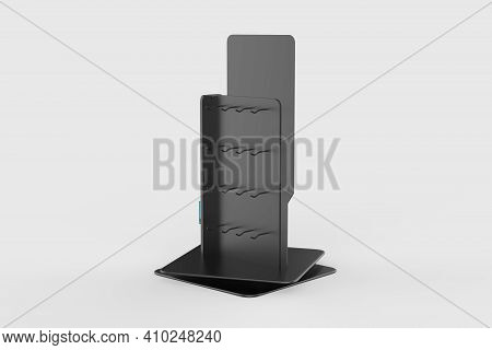 Phone Accessory Display Stand, Retail Display Stand With Hook For Product , Display Stands Isolated