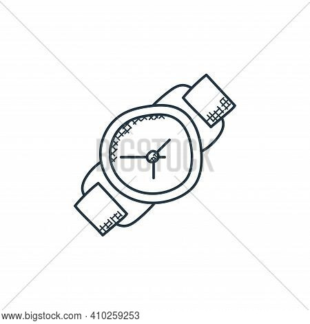 wristwatch icon isolated on white background from technology collection. wristwatch icon thin line o