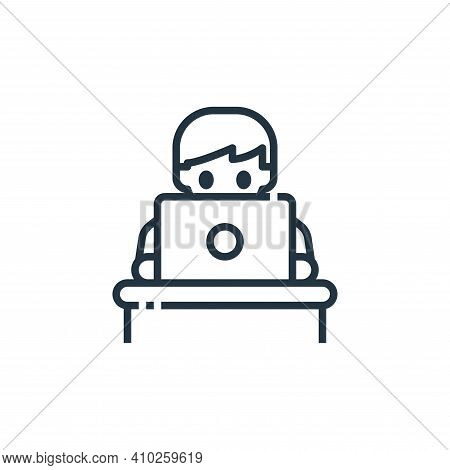 working icon isolated on white background from working from home collection. working icon thin line