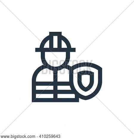 worker icon isolated on white background from insurance collection. worker icon thin line outline li