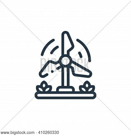 windmill icon isolated on white background from smart farm collection. windmill icon thin line outli