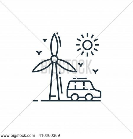 wind energy icon isolated on white background from environment and eco collection. wind energy icon