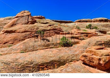 Eroded Landscape, Arches National Park, Moab, Utah, Us