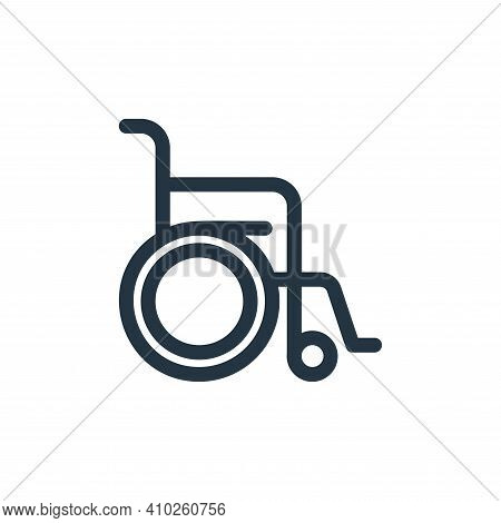 wheelchair icon isolated on white background from medical tools collection. wheelchair icon thin lin