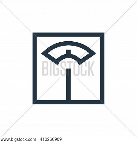 weight icon isolated on white background from pharmacy collection. weight icon thin line outline lin