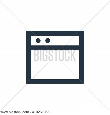 website icon isolated on white background from user interface collection. website icon thin line out