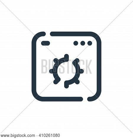 web optimization icon isolated on white background from seo collection. web optimization icon thin l