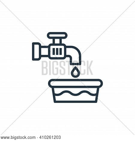 water tap icon isolated on white background from laundry collection. water tap icon thin line outlin