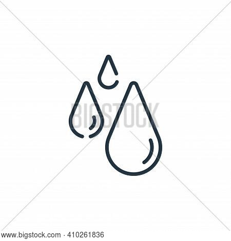 water icon isolated on white background from bathroom collection. water icon thin line outline linea