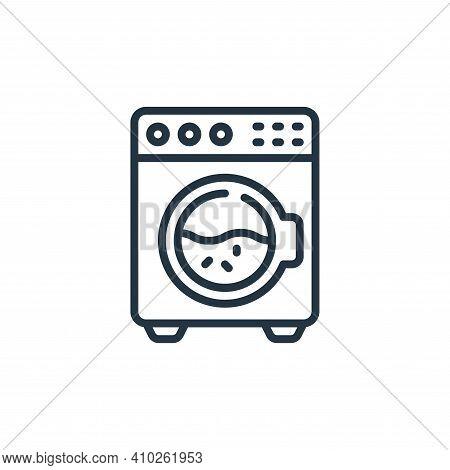 washing machine icon isolated on white background from hygiene collection. washing machine icon thin