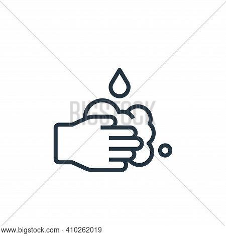 washing hands icon isolated on white background from stay at home collection. washing hands icon thi