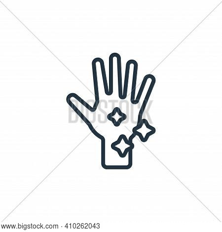 washing hands icon isolated on white background from hygiene collection. washing hands icon thin lin