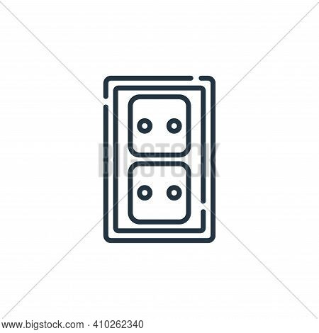 wall socket icon isolated on white background from electrician tools and elements collection. wall s