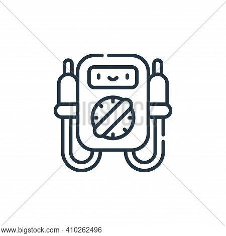 voltmeter icon isolated on white background from electrician tools and elements collection. voltmete