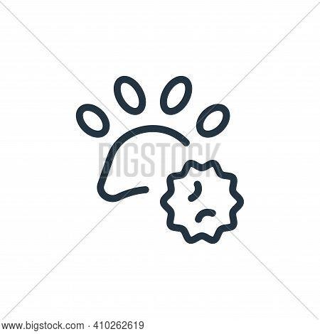virus icon isolated on white background from coronavirus collection. virus icon thin line outline li