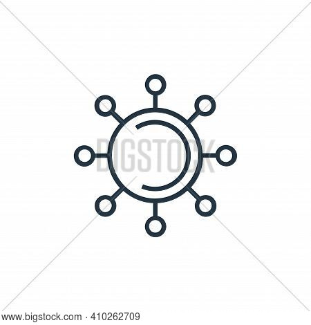 virus icon isolated on white background from medical tools collection. virus icon thin line outline