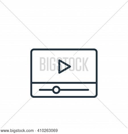 video player icon isolated on white background from cinema collection. video player icon thin line o
