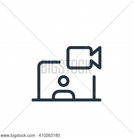 video chat icon isolated on white background from work office and meeting collection. video chat ico