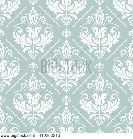 Orient Classic Pattern. Seamless Abstract Background With Vintage Elements. Orient Background. Light