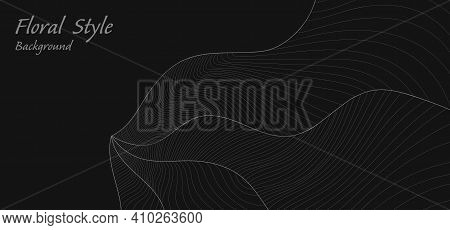 Abstract Floral Design Or Classic Black On Copy Space Template. Seamless Design For The Cover Backgr
