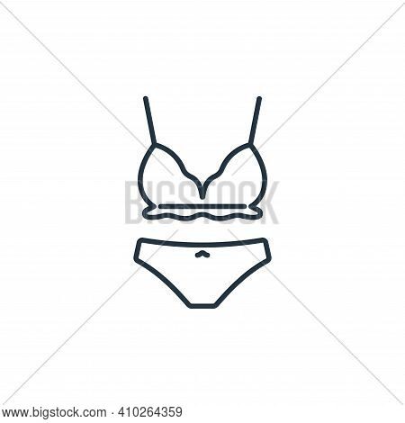 underwear icon isolated on white background from clothes and outfit collection. underwear icon thin