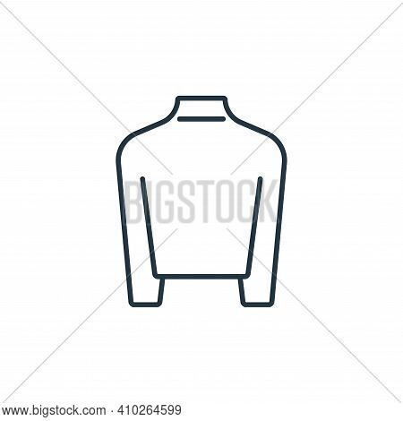 Turtleneck icon isolated on white background from clothes and outfit collection. Turtleneck icon thi