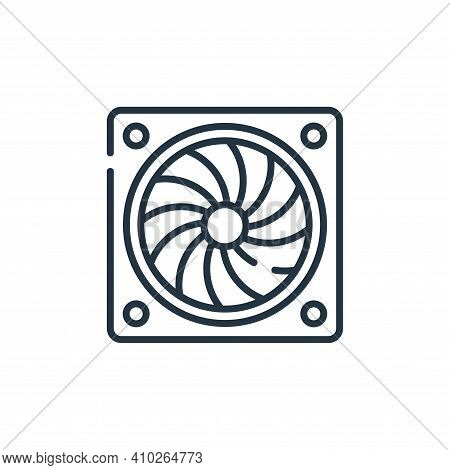 turbine icon isolated on white background from industrial process collection. turbine icon thin line
