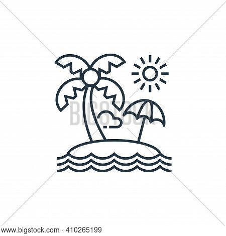tropical icon isolated on white background from tourism collection. tropical icon thin line outline