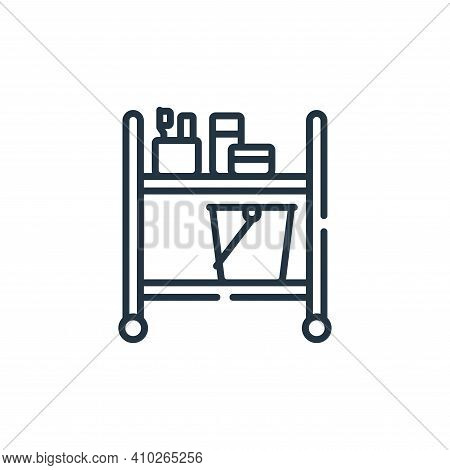 trolley icon isolated on white background from bathroom collection. trolley icon thin line outline l