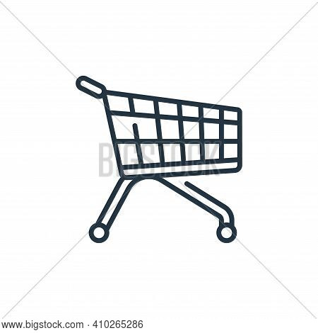trolley icon isolated on white background from mall collection. trolley icon thin line outline linea