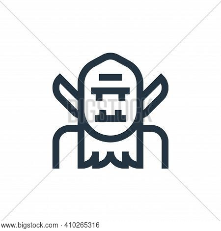 troll icon isolated on white background from fantastic characters collection. troll icon thin line o