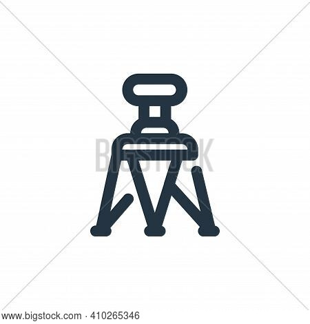 tripod icon isolated on white background from video collection. tripod icon thin line outline linear