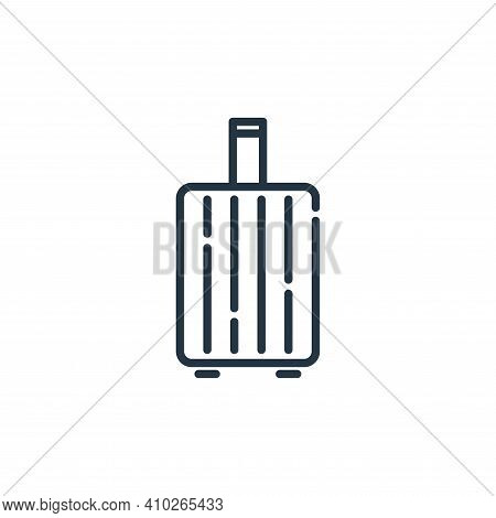 travel baggage icon isolated on white background from insurance collection. travel baggage icon thin