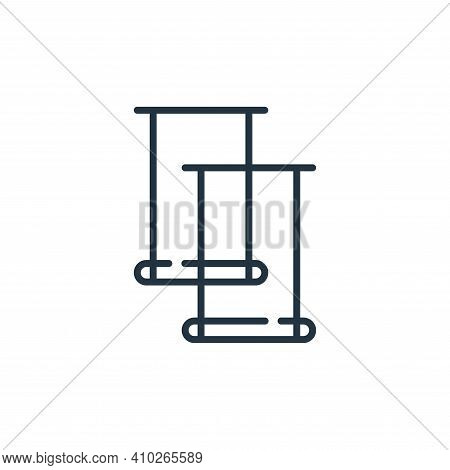 trapeze icon isolated on white background from circus collection. trapeze icon thin line outline lin