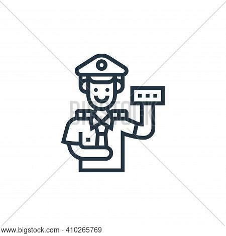 train operator icon isolated on white background from railway collection. train operator icon thin l