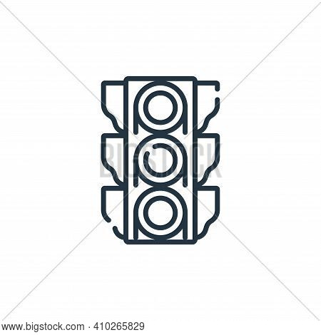 traffic lights icon isolated on white background from navigation and maps collection. traffic lights