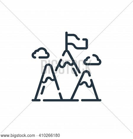 top icon isolated on white background from startup collection. top icon thin line outline linear top