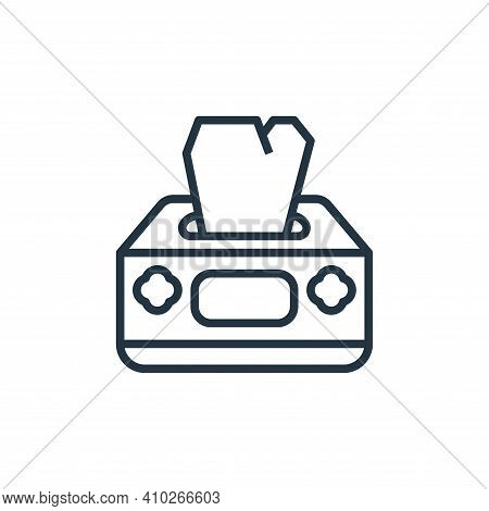tissue box icon isolated on white background from coronavirus collection. tissue box icon thin line