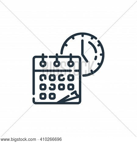 time icon isolated on white background from startup collection. time icon thin line outline linear t