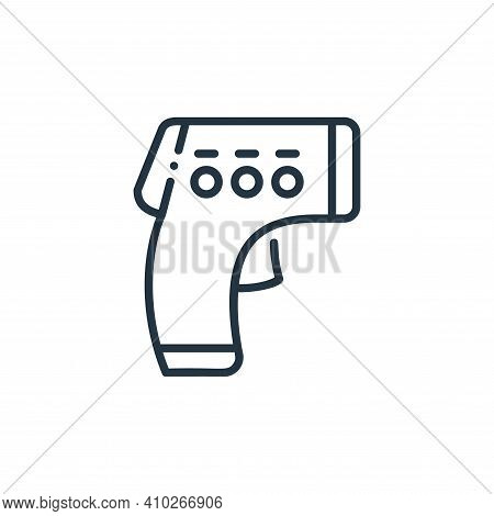 thermometer icon isolated on white background from virus spread collection. thermometer icon thin li
