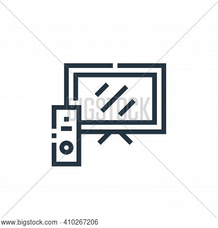 television icon isolated on white background from inside home collection. television icon thin line