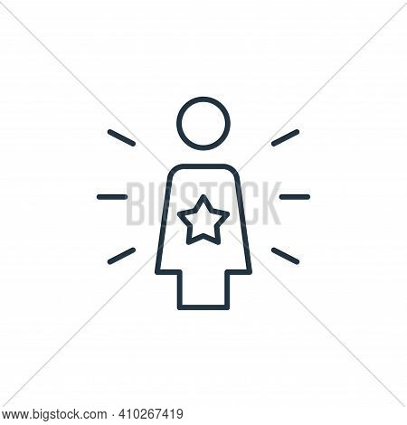 team leader icon isolated on white background from leadership collection. team leader icon thin line