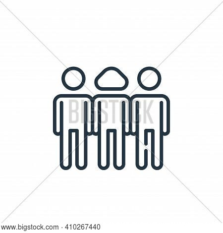 team icon isolated on white background from management collection. team icon thin line outline linea