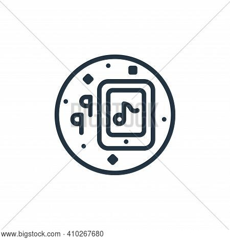 tablet icon isolated on white background from music and sound collection. tablet icon thin line outl