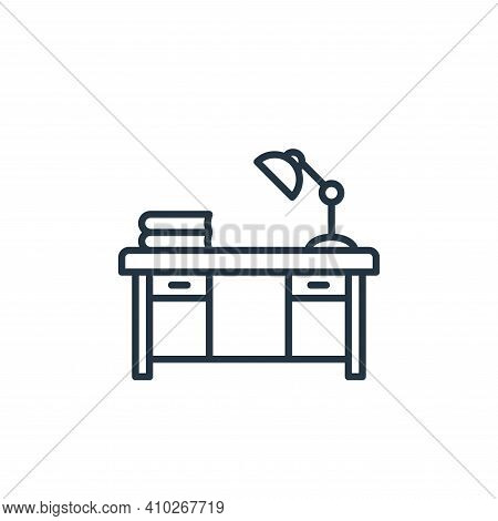 table icon isolated on white background from education collection. table icon thin line outline line