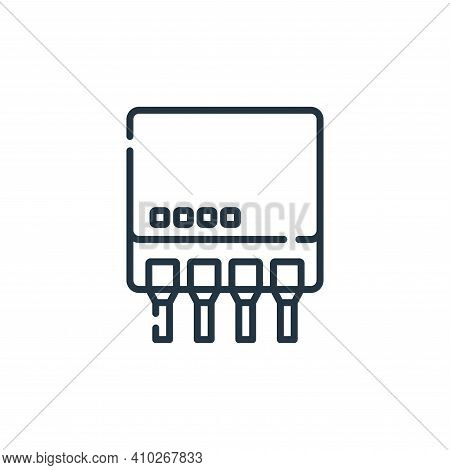 switch icon isolated on white background from database and servers collection. switch icon thin line